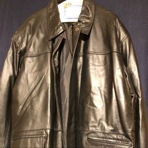 Big and Tall Black Leather Jacket for Men 2xl